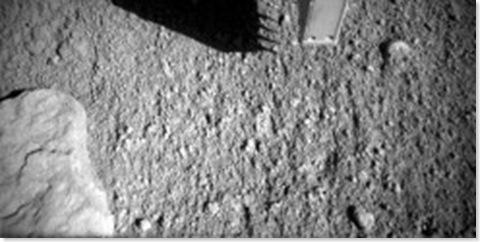 Mars Lander Probing Soil